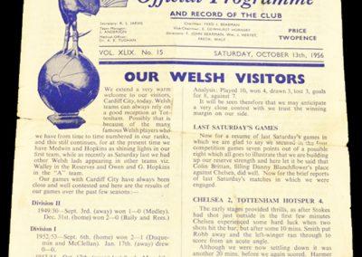 Tottenham Hotspur v Cardiff 13.10.1956