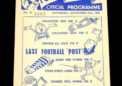 Preston North End v Bolton 26.11.1960 | Postponed
