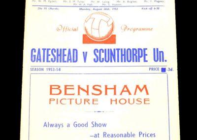Gateshead v Scunthorpe United 24.08.1953