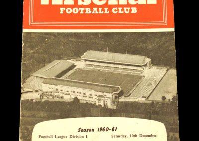 Arsenal v Bolton Wanderers 10.12.1960