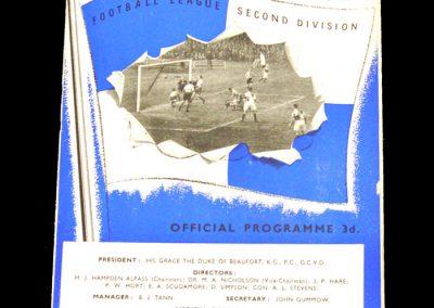 Bristol Rovers v Derby 29.08.1953