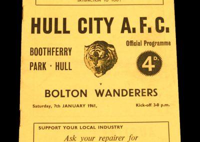 Hull City v Bolton Wanderers 07.01.1961