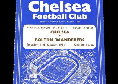Chelsea v Bolton Wanderers 14.01.1961