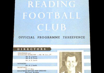 Reading v Aldershot 03.10.1953