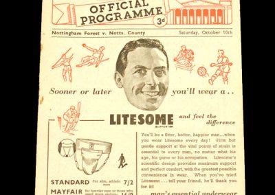 Nottingham Forest v Notts County 10.10.1953
