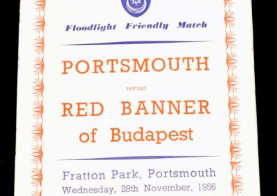 Portsmouth v Red Banner of Budapest 28.11.1956