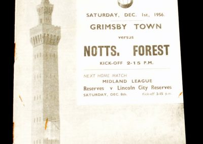 Grimsby Town v Notts Forest 01.02.1956