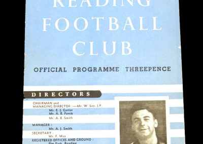Reading FC v Shrewesbury 17.10.1953
