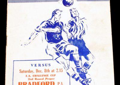 Peterborough United v Bradford 08.12.1956 | FA Cup 2nd Round