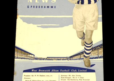 West Bromwich Albion v Bolton Wanderers 25.02.1961