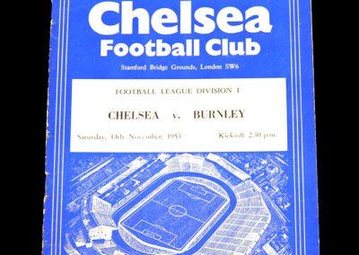 Chelsea v Burnley 14.11.1953