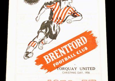 Brentford FC v Torquay United 25.12.1956