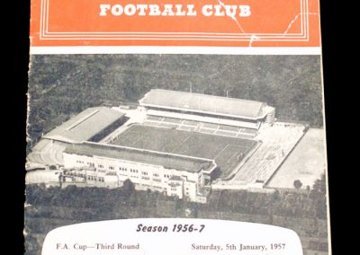 Arsenal v Stoke City 05.01.1957 | FA Cup 3rd round
