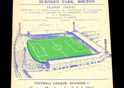 Aston Villa v Bolton Wanderers 03.04.1961