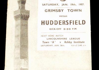 Grimsby Town v Huddersfield 19.01.1957