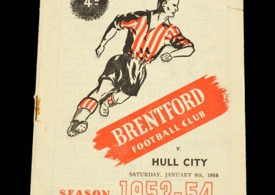 Brentford FC v Hull 09.01.1954