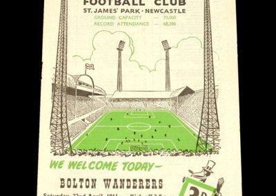 Newcastle United v Bolton Wanderers 22.04.1961