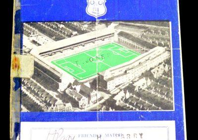 Everton v Banik Ostrava 02.03.1957