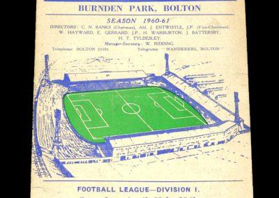 Bolton Wanderers v Preston North End 29.04.1961