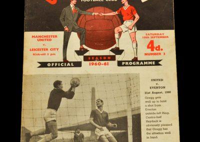 Manchester United v Leicester City 10.09.1960