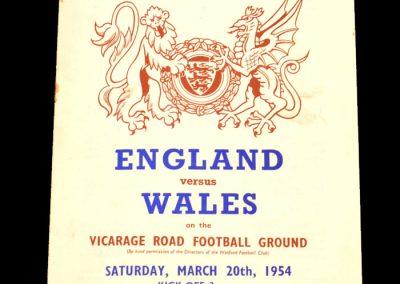 England v Wales 20.03.1954