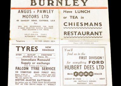 Charlton Athletic v Burnley 13.04.1957