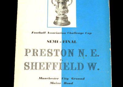 Preston v Sheffield Wednesday 27.03.1954   FA Cup Semi Final