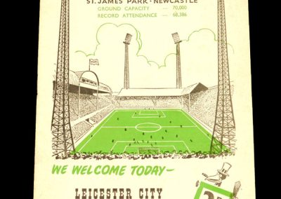 Newcastle United v Leicester City 24.09.1960
