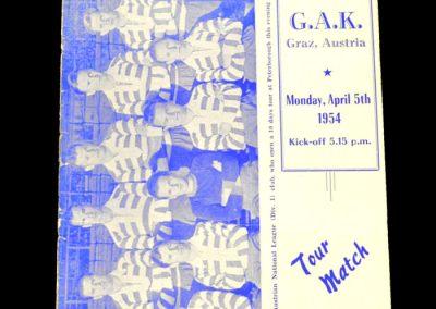 Peterborough United v GAK Graz (Austria) 05.04.1954