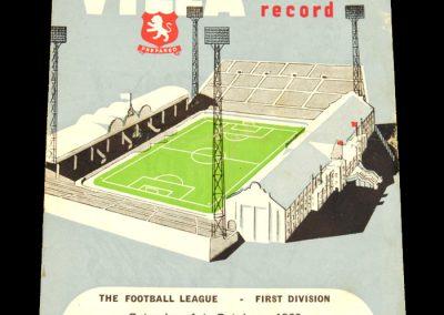 Aston Villa v Leicester City 01.10.1960