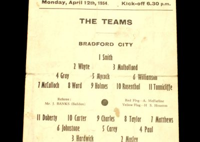 Bradford v All Stars XI 12.04.1954