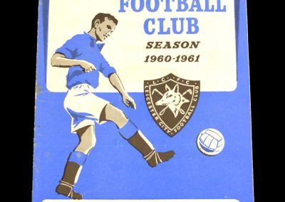 Mansfield Town v Leicester City 12.10.1960   League Cup 1st Round