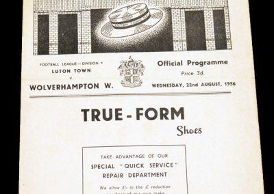 Luton Town v Wolverhampton Wanderers 22.08.1956