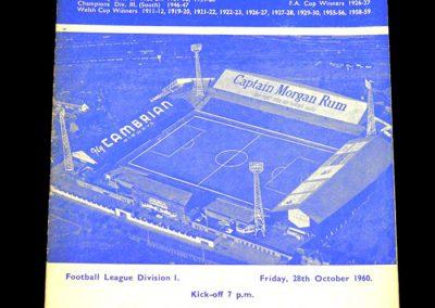 Cardiff City v Leicester City 28.10.1960