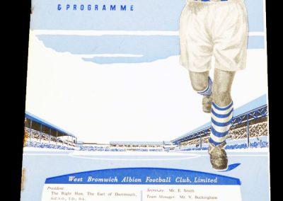 West Bromwich Albion v Wolverhampton Wanderers 06.10.1956