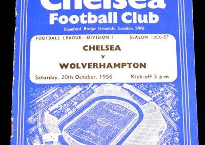 Chelsea v Wolverhampton Wanderers 20.10.1956