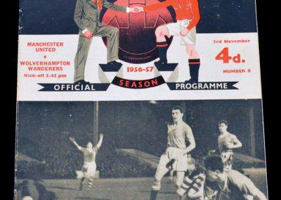 Manchester United v Wolverhampton Wanderers 03.11.1956