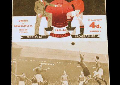 Newcastle United v Manchester United 29.08.1953