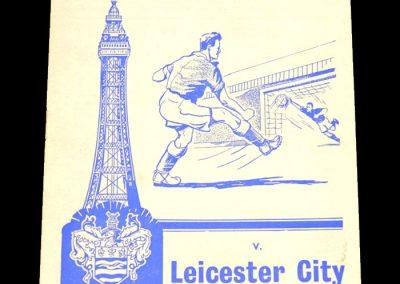 Blackpool FC v Leicester City 17.12.1960