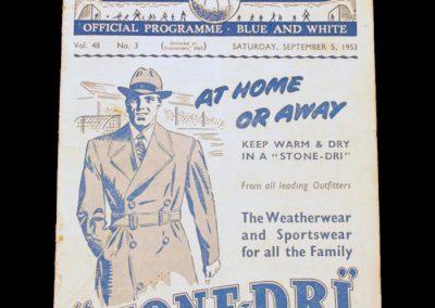 Manchester United v Manchester City 05.09.1953