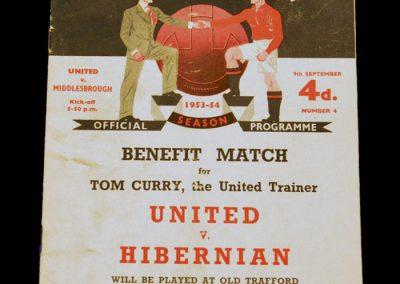 Middlesbrough v Manchester United 09.09.1953