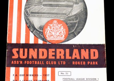 Sunderland v Wolverhampton Wanderers 01.01.1957