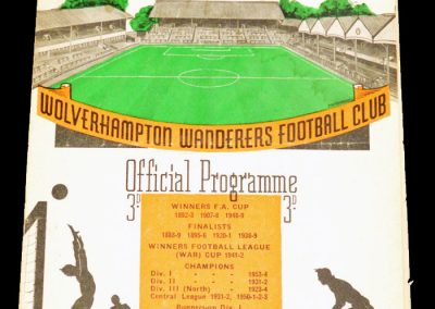 Swansea City v Wolverhampton Wanderers 05.01.1957 | FA Cup 3rd Round