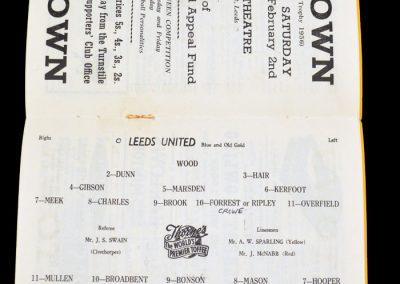 Leeds United v Wolverhampton Wanderers 19.01.1957