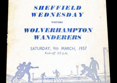 Sheffield Wednesday v Wolverhampton Wanderers 09.03.1957