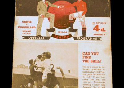 Sunderland v Manchester United 10.10.1953