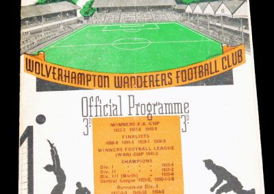 Manchester United v Wolverhampton Wanderers 16.03.1957