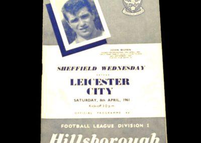 Sheffield Wednesday v Leicester City 08.04.1961