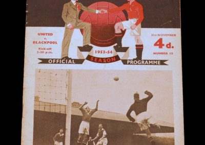 Blackpool v Manchester United 21.11.1953
