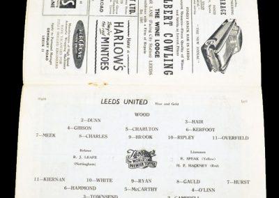Charlton Athletic v Leeds United 29.08.1956